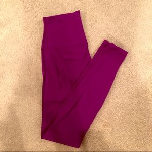 Lululemon high waisted purple leggings